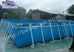 Bể bơi lắp ghép – KT: 6.6m x 18.6m cao 1.2m