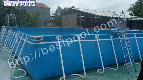 Chống đuối nước, mỗi trường được cấp một bể bơi