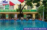 Bể bơi lắp ghép – KT: 5.1m x 11.1m cao 1.2m