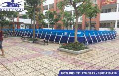 Bể bơi lắp ghép – KT: 3.6m x 9.6m cao 1.2m