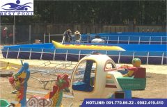 Bể bơi lắp ghép – KT: 5.1m x 6.6m cao 1.2m