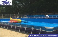 Bể bơi lắp ghép – KT: 5.1m x 8.1m cao 1.2m
