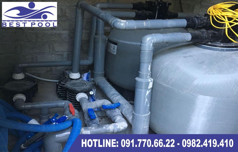 hệ thống đường ống bể bơi dùng trong bể bơi lắp ghép di động