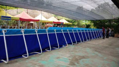 Lắp đặt bể bơi lắp ghép tại Hòa Lạc – Hà Nội