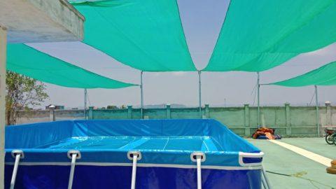Bể bơi lắp ghép tại Trường Tiểu học Yên Từ