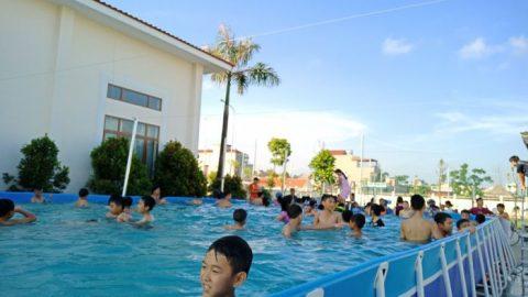 Bể bơi di động- Giải pháp tốt nhất cho việc Thực hiên Chương trình phòng, chống tai nạn đuối nước ở trẻ em năm 2018