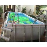 Bể bơi Bestway khung chống kim loại 56441 _ KT : 2.01m x 4.12m x 1.2m ( dạng chữ nhật )