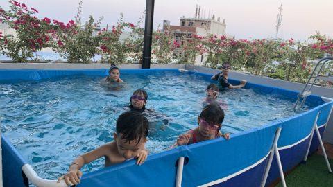 Bể bơi mini kt 3m x 4m x 80cm