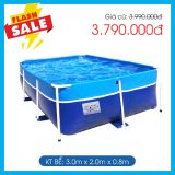 Bể bơi mini KT 2m x 3m x 0.8m
