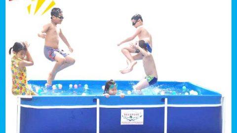 Bể bơi khung kim loại lắp ghép KT 1.6m x 2.8m x 0.6m