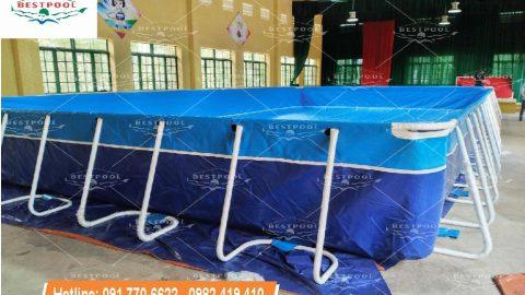 Hồ bơi lắp ráp tại huyện đoàn Mê Linh  KT 8.1mx 15.6m x 1.2m