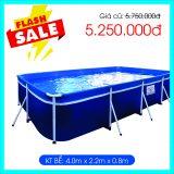 Bể bơi mini kt 2,2m x 4m x 80cm
