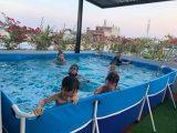 Bể bơi khung kim loại lắp ghép KT 3m x 4m x 0.8m