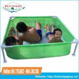 Bể bơi lắp ghép khung kim loại KT 1.2m x 1.2m x 0.3m