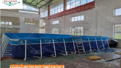 Hồ bơi di động tại Sóc Sơn KT 8.1m x 18.6m x 1.2m
