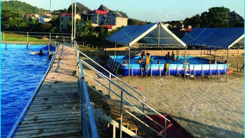 Bể bơi kinh doanh của Anh Hùng Thanh Hóa KT 9.6m x 24.6m x 1.5m